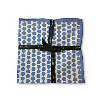 Olymp Pocket Square in blue dot pattern