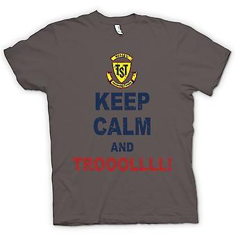 Womens T-shirt - hålla sig lugna och Troll - Troll Hunter
