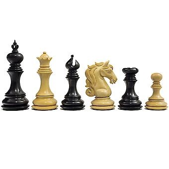 The Cavalry Series Chessmen Ebony 4.5