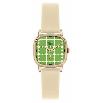 Orla Kiely Iris Cream Leather Strap OK2052 Watch