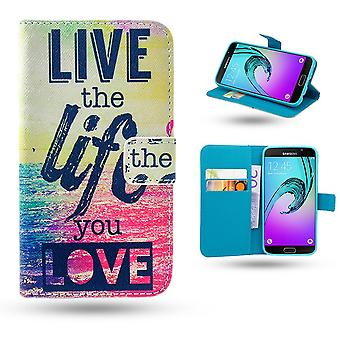 Samsung Galaxy A5 2016-case/portefeuille-Live The Life