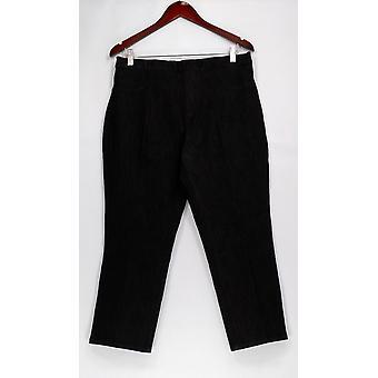 Isaac Mizrahi Live! Petite Jeans MP 365 Stretch Denim Schwarz A254310