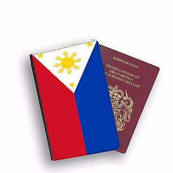 PHILIPPINES Flag Passport Holder Style Case Cover Protective Wallet Flags design