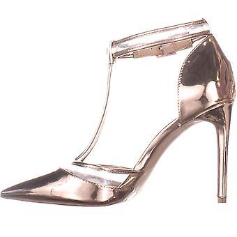 INC International Concepts Womens Kaeley spetsiga Toe T-Strap Classic pumpar