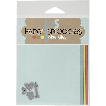 Paper Smooches Die-Tiny Hearts - DED184