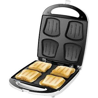 Sandwich toaster hinged Unold Quadro White/black