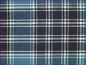 MacDonald Lord of the Isles blauw, moderne - zuivere wol Tartan