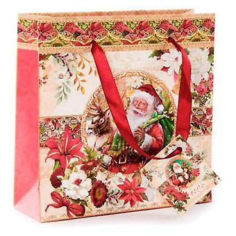 Wellindal Paper Bag Santa Claus (Decoration , Christmas , Christmas Decoration , Others)