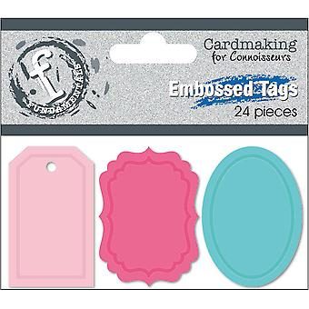 Fundamentals Embossed Tags 24/Pkg-1.5