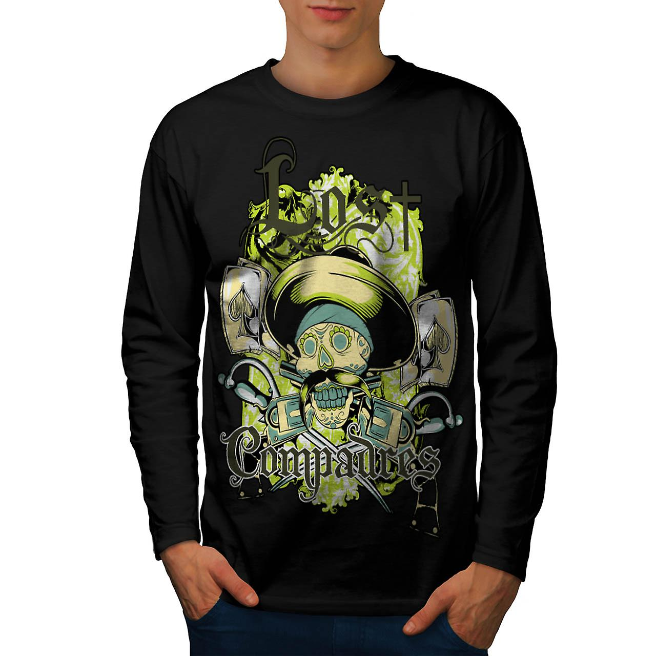 Lost Compadres Team Mexico Man Men Black Long Sleeve T-shirt | Wellcoda