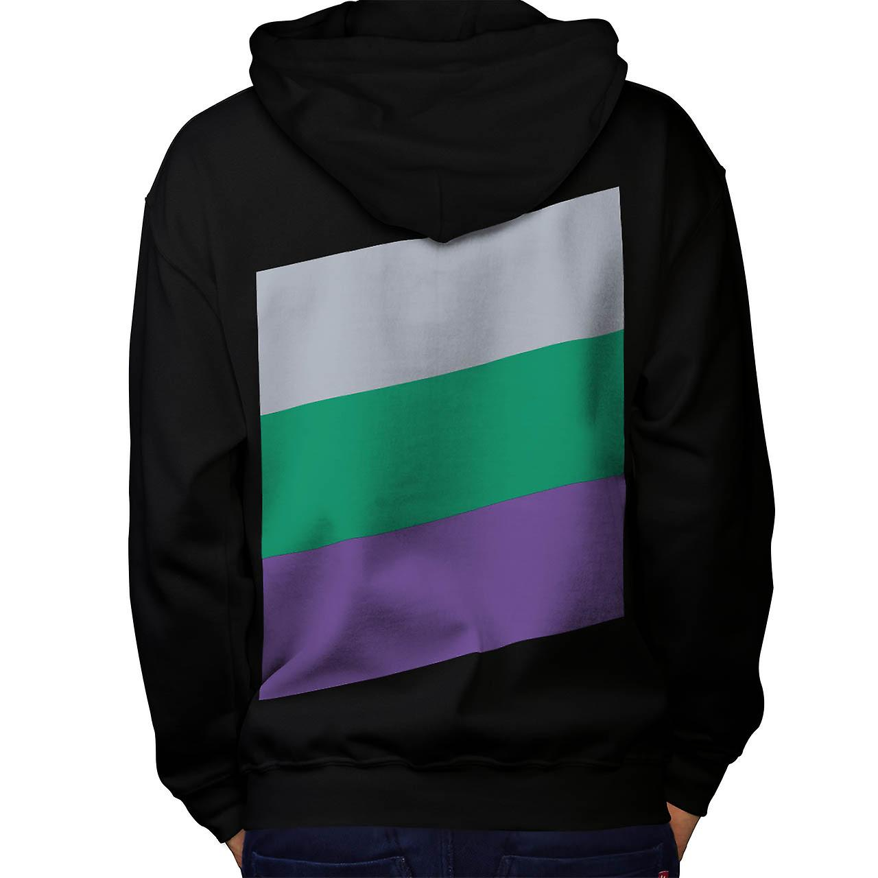Three Tier Colours Holiday Fun Men Black Hoodie Back | Wellcoda