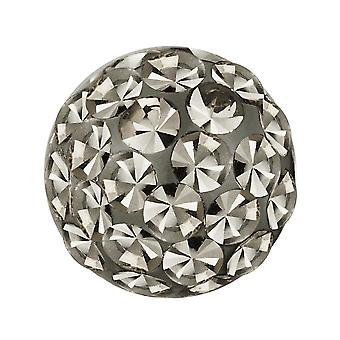 Piercing Replacement Ball, Body Jewellery, Multi Crystal Stones Black Diamond | 4, 5 and 6 mm