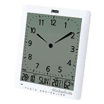Balance Radio-Controlled Wall Clock Lcd Display White (Heim , Dekoration , Uhren)