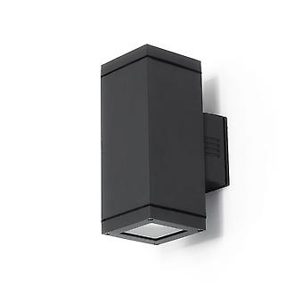 Wall lamp of big UpDown 4 E27 PAR30 2 x 75 W max IP54 grey 10662