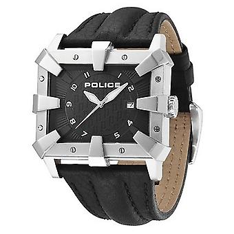 Polizia mens watch orologio da polso in pelle analogico Defender 13400JS/02