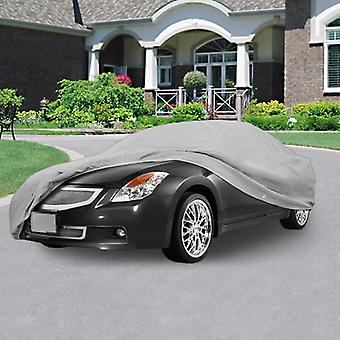 SUPERIOR TRUE 100% WATERPROOF CAR COVER COVERS MID SIZE SEDAN - ALL SEASON PROTECTION - GRAY COLOR - 3x PILLOW SOFT INNER COTTON LAYER (FITS LENGTH 170