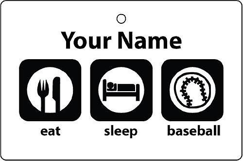 Personalised Eat Sleep Baseball Car Air Freshener
