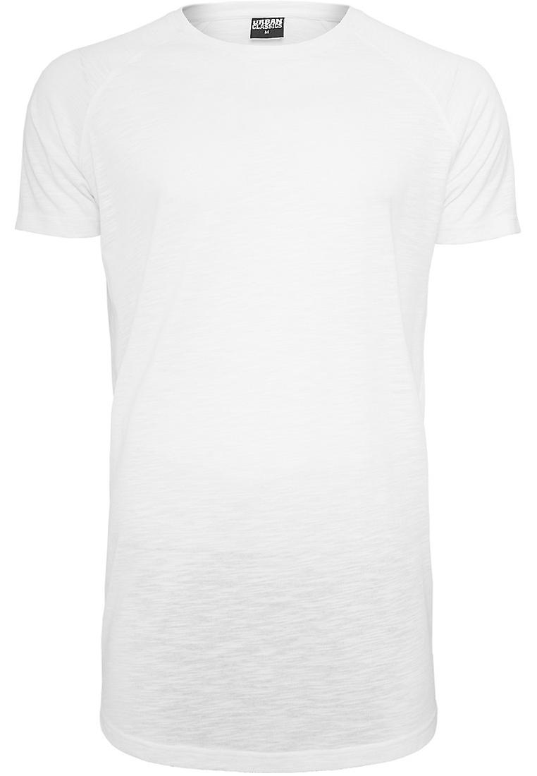 Urban classics mens long shaped slub Raglan Tee T-Shirt