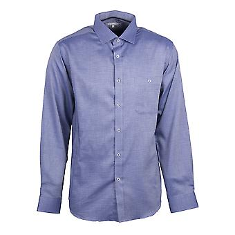 Howard Dot sottile camicia stampa in blu