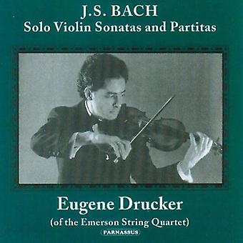 Eugene Drucker - Bach: Solo violinsonater og Partitas [CD] USA import