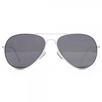 M:UK Portobello Classic Aviator Sunglasses In White