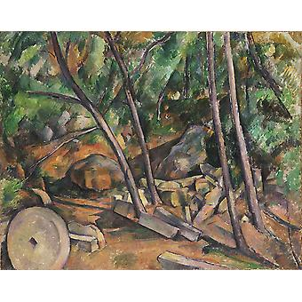 Paul Cezanne - Millstone in the Park Poster Print Giclee