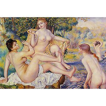 Pierre August Renoir The Bathers Poster Print Giclee