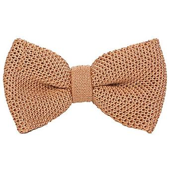 40 Colori Solid Pre-Tied Silk Bow Tie - Light Orange