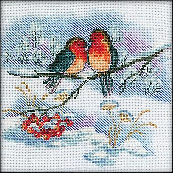 Bullfinches Counted Cross Stitch Kit-7
