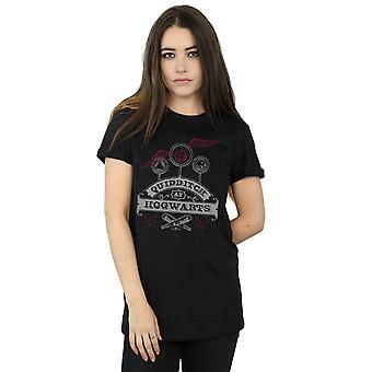 Harry Potter Women's Quidditch At Hogwarts Boyfriend Fit T-Shirt