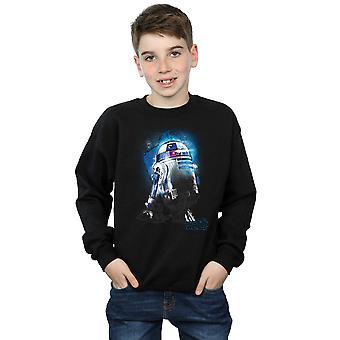 Star Wars drenge den sidste Jedi R2-D2 børstet Sweatshirt