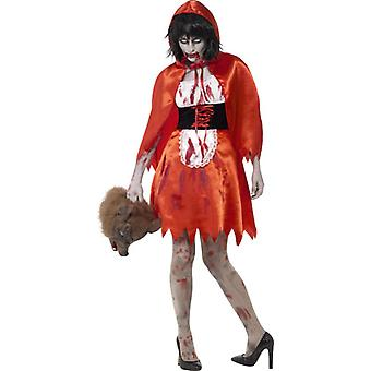 Smiffys Zombie Little Miss Hood Costume Red With Dress & Cape (Costumes)