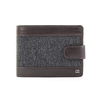 Tresanti Mens Leather Wallet With Grey Herringbone