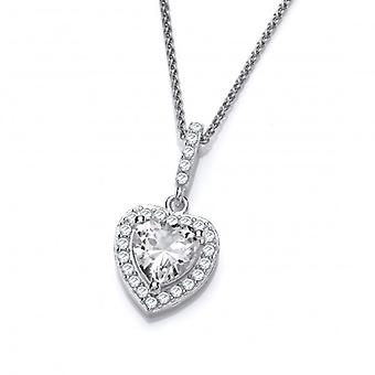 Cavendish French So Cute Mini CZ Drop Heart Pendant without Chain