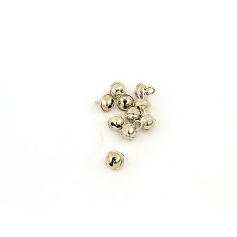 100 Silver 9mm Cat Bell Style Jingle Bells for Crafts
