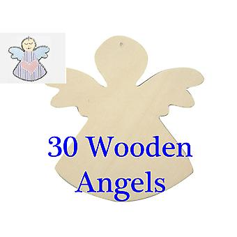 30 Wooden Angels to Decorate for Christmas | Christmas Ornaments to Decorate