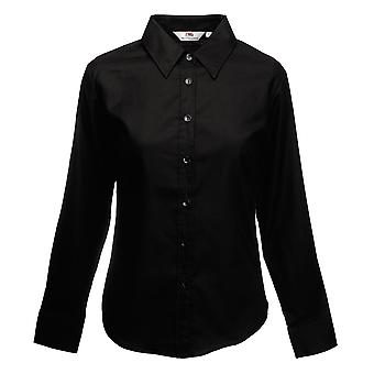 Fruit Of The Loom Ladies Lady-Fit Long Sleeve Oxford Shirt