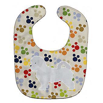 Каролинских сокровища BB6341BIB Мальтийский Pawprints ребенок нагрудник