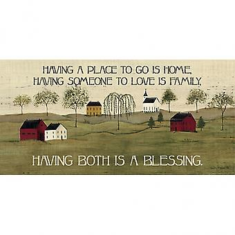 A Blessing Poster Print by Dotty Chase (8 x 16)