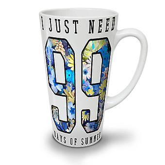 99 Day Of Summer NEW White Tea Coffee Ceramic Latte Mug 17 oz | Wellcoda