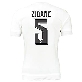 2015-16 real Madrid hem skjorta (Zidane 5) - barn