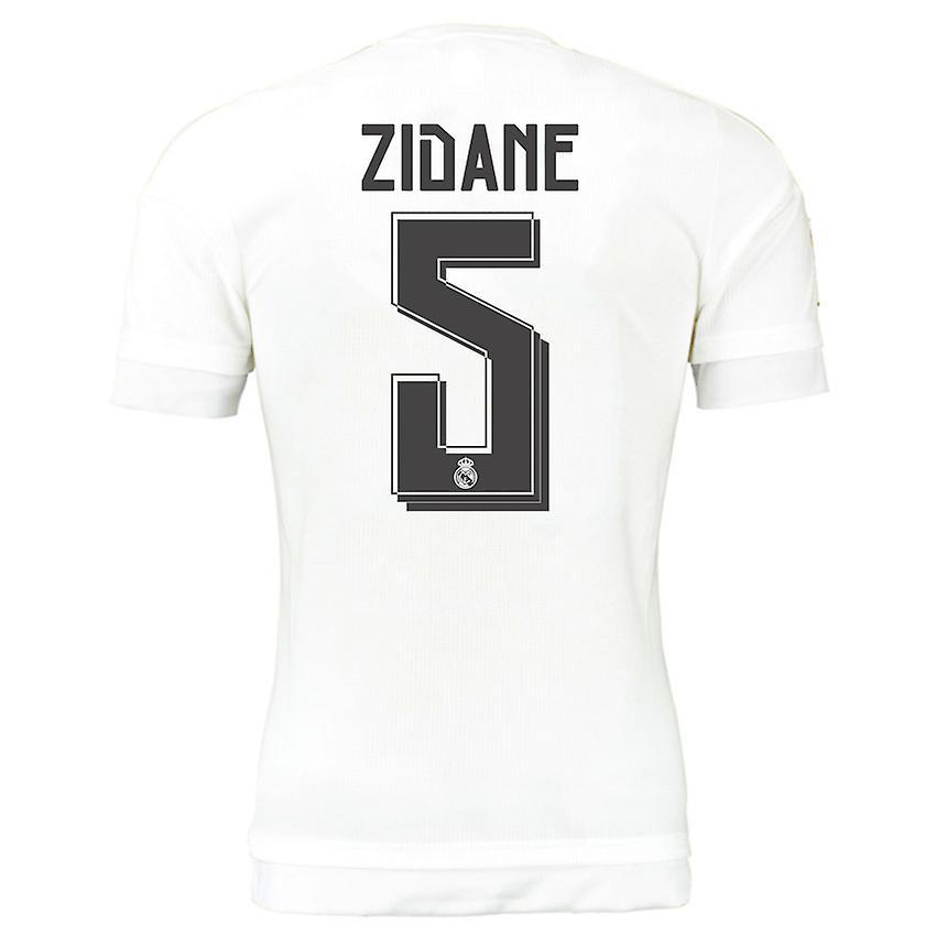 2015-16 Real Madrid Home Shirt (Zidane 5) - Kids