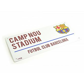 FC Barcelona Unisex Metal Street Sign