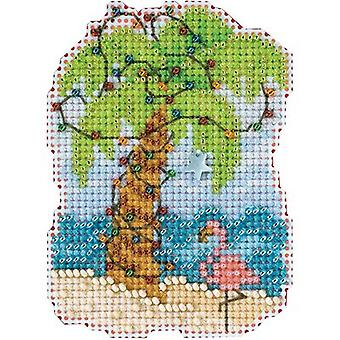 Kerst Palm geteld Cross Stitch Kit-2.5
