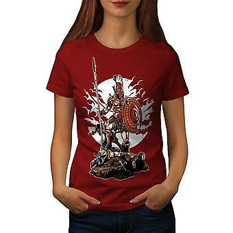 Sparta Warrior Fantasy Women RedT-shirt | Wellcoda