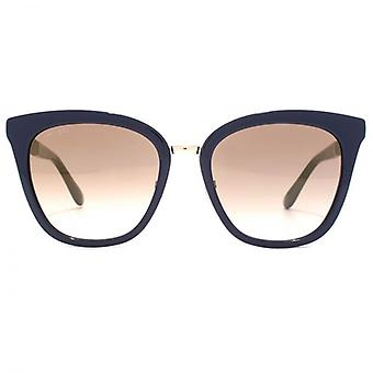 Jimmy Choo Fabry Sunglasses In Blue Glitter