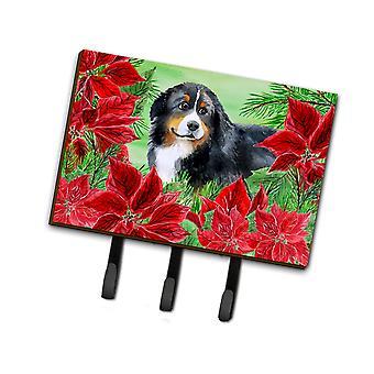 Bernese Mountain Dog Poinsettas Leash o llavero