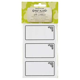 A pack of 20 self adhesive  labels with a monochrome motif