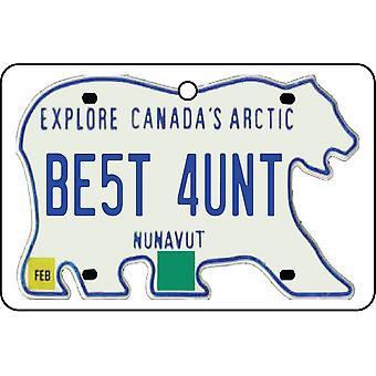 NUNAVUT - Best Aunt License Plate Car Air Freshener