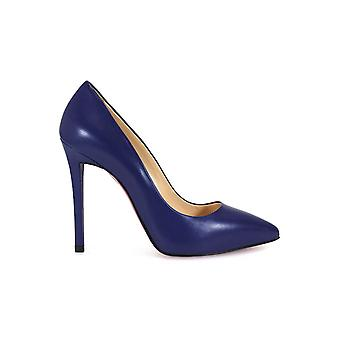FRANCO COLLI BLUE HIGH-HEELED PUMPS